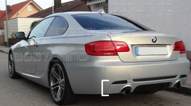 bmw 3 series e92 e93 rear bumper diffuser performance 335d 335i m sport gb ebay. Black Bedroom Furniture Sets. Home Design Ideas
